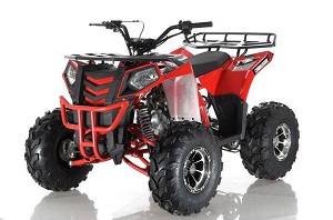 APOLLO COMMANDER DLX 125CC ATV w/Upgraded Chrome Rims, Auto With Reverse 4-Stroke, Single Cylinder, OHC - FULLY ASSEMBLED AND TESTED on Sale !