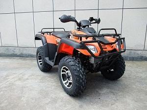 monster 300cc atv 4 x 4, alloy wheels