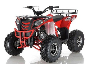 APOLLO COMMANDER DLX 125CC ATV w/Upgraded Chrome Rims, Auto With Reverse 4-Stroke, Single Cylinder, OHC on Sale !