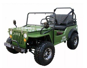 Gas Golf Cart 125cc Jeep Mini Truck Elite Edition With 3 Speed