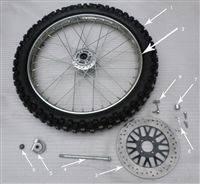 ricky power sports_Hawk 250 Frong wheel axle