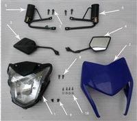 New Hawk 250 Head light cover