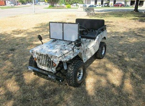 RPS Jeep Off-Road 125cc Mini Go-Kart With Chrome Rims w/Shipping Included