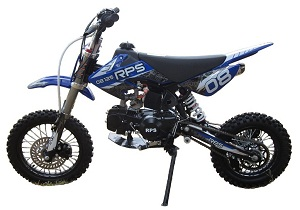 RPS EGL-08 125cc Dirt Bike, Manual 4 Speed Transmission, Single-Cylinder, Air Cooled