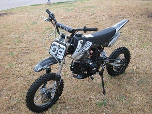 RPS EGL-09 125cc Dirt Bike, SEMI AUTO Transmission, Air Cooled 4 Stroke Single Cylinder