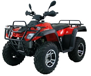monster 300cc atv 4 x 2, alloy wheels